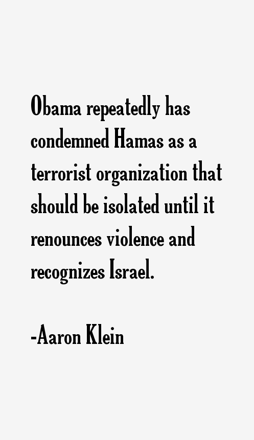 Aaron Klein Quotes