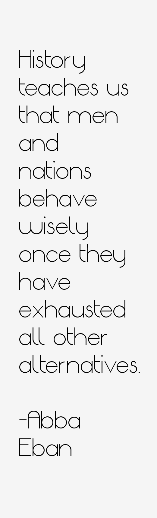 Abba Eban Quotes