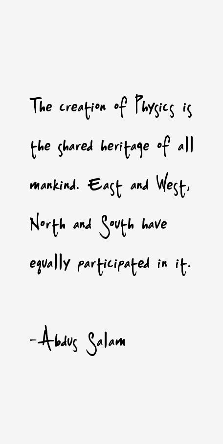 Abdus Salam Quotes