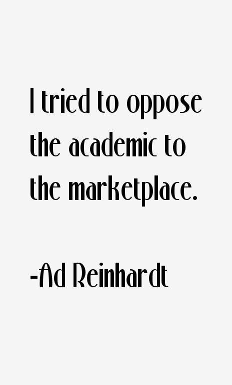 Ad Reinhardt Quotes