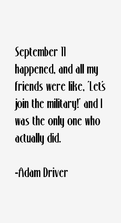 Adam Driver Quotes