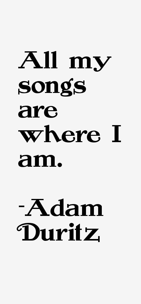Adam Duritz Quotes