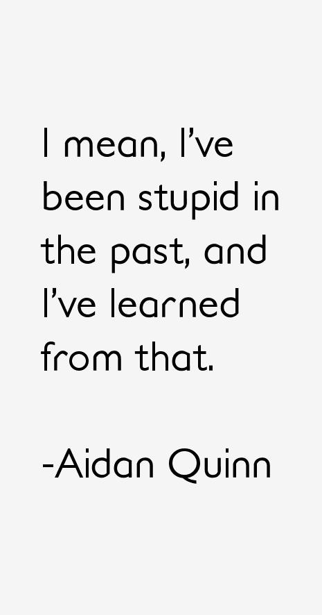 Aidan Quinn Quotes