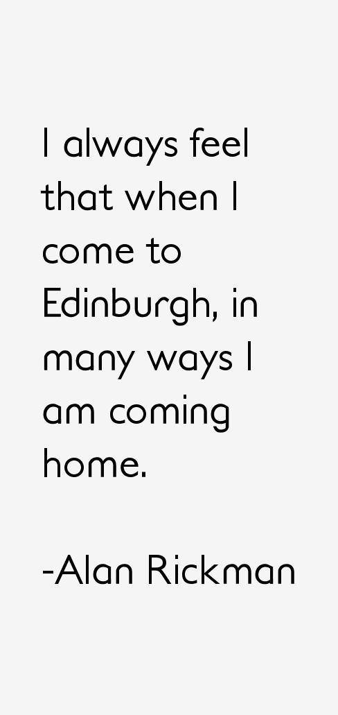 Alan Rickman Quotes