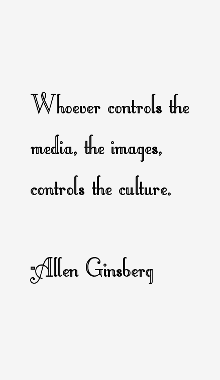 "whoever controls the media the images controls the culture essay Whoever controls the media -the images ""whoever controls the media, the images, controls the controls the media-the image-controls the culture."