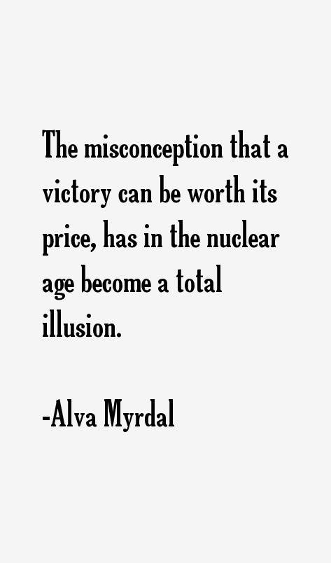 Alva Myrdal Quotes Sayings