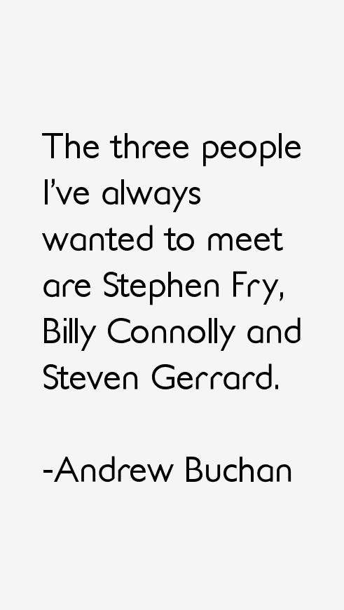 Andrew Buchan Quotes