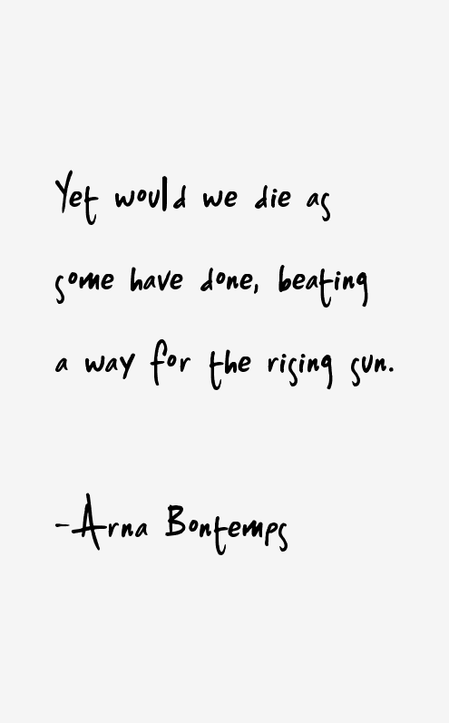 Arna Bontemps Quotes