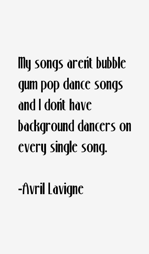 Avril Lavigne Quotes