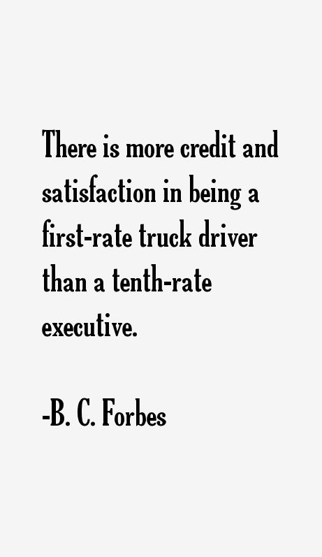 B. C. Forbes Quotes
