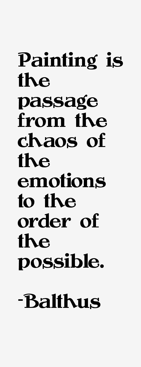 Balthus Quotes