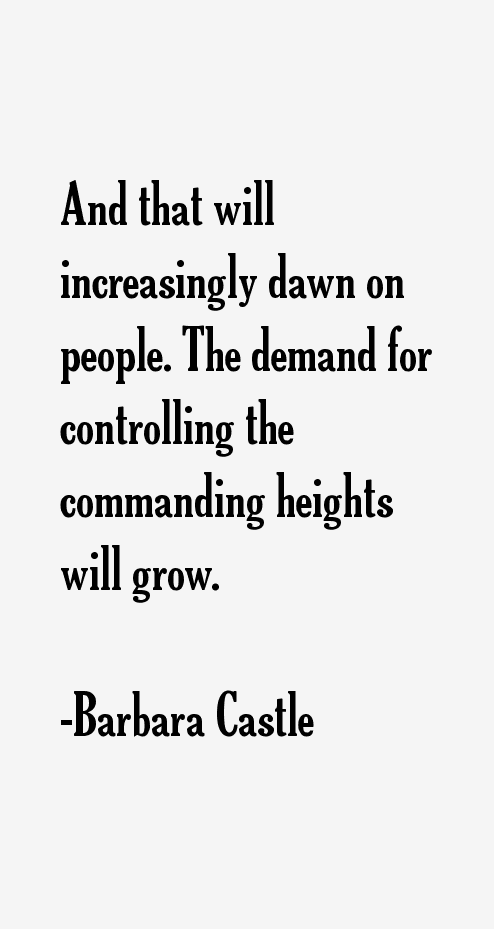 Barbara Castle Quotes
