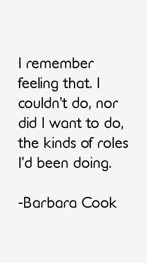 Barbara Cook Quotes