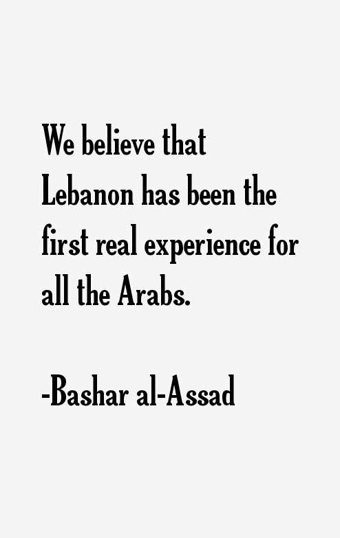 Bashar al-Assad Quotes