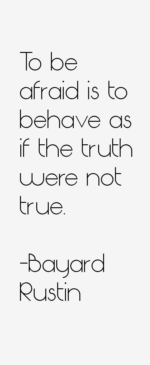 Bayard Rustin Quotes