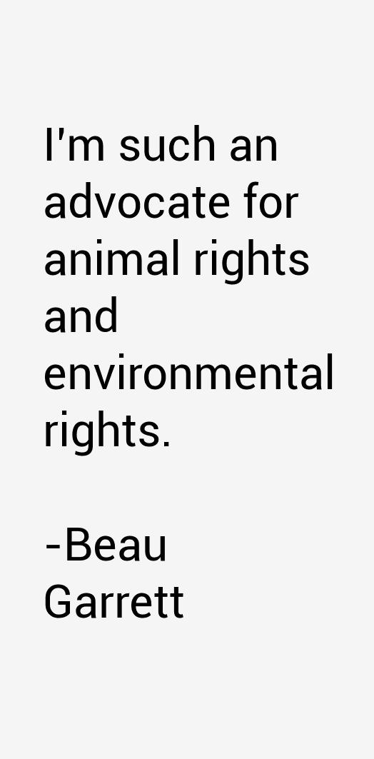 Beau Garrett Quotes