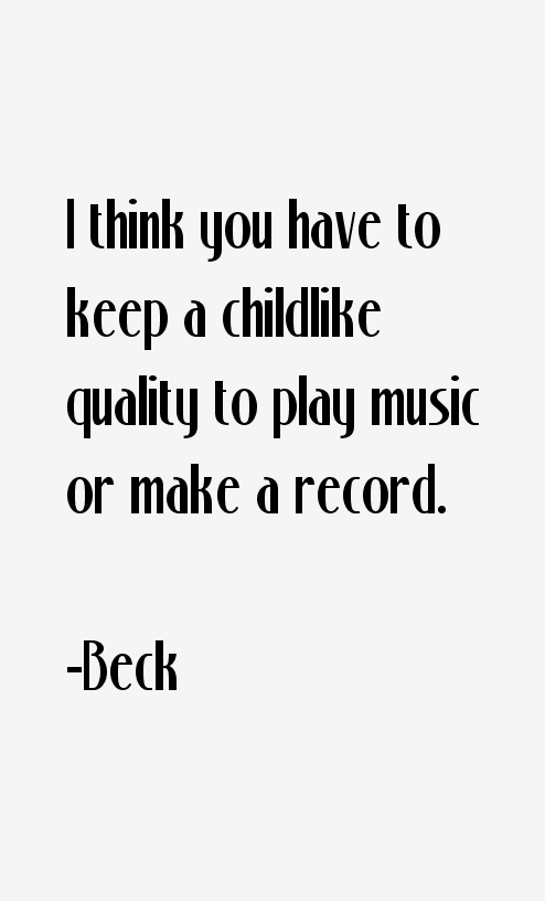 Beck Quotes
