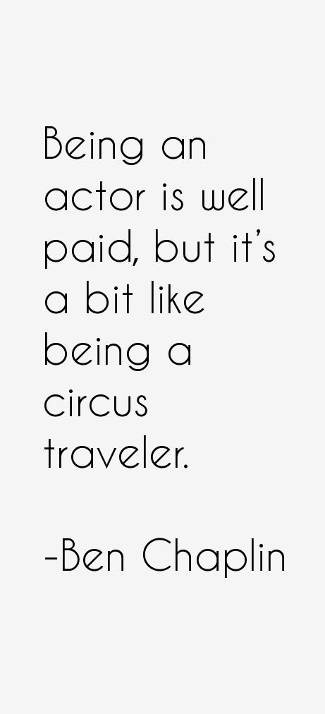 Ben Chaplin Quotes