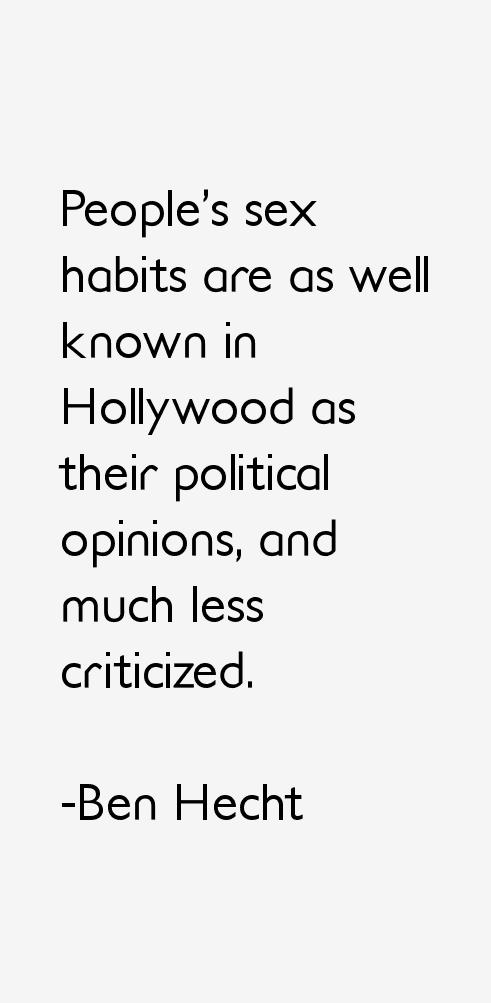 Ben Hecht Quotes