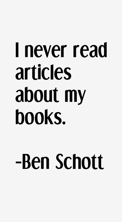 Ben Schott Quotes