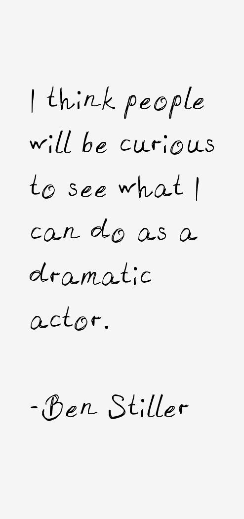 Ben Stiller Quotes