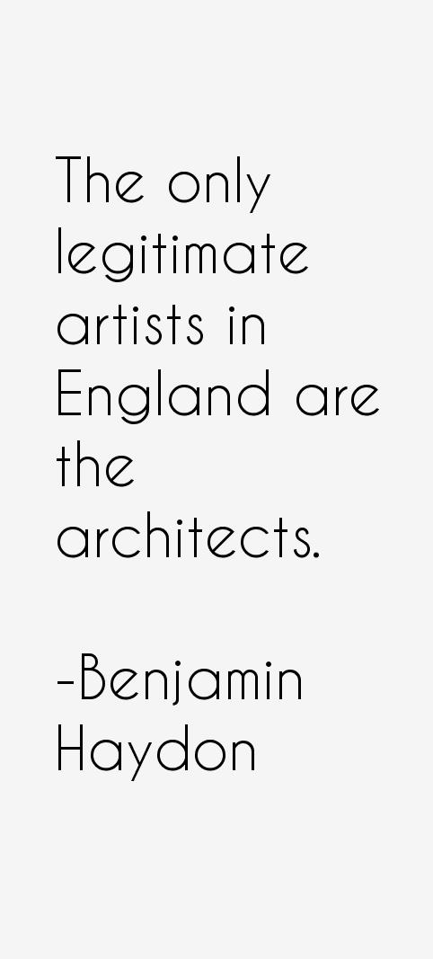 Benjamin Haydon Quotes