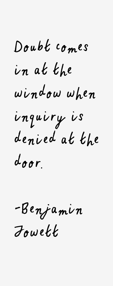 Benjamin Jowett Quotes