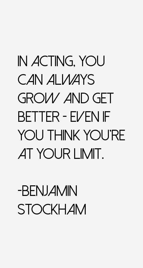 Benjamin Stockham Quotes
