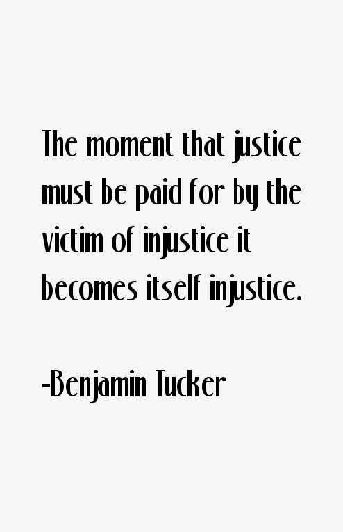 Benjamin Tucker Quotes