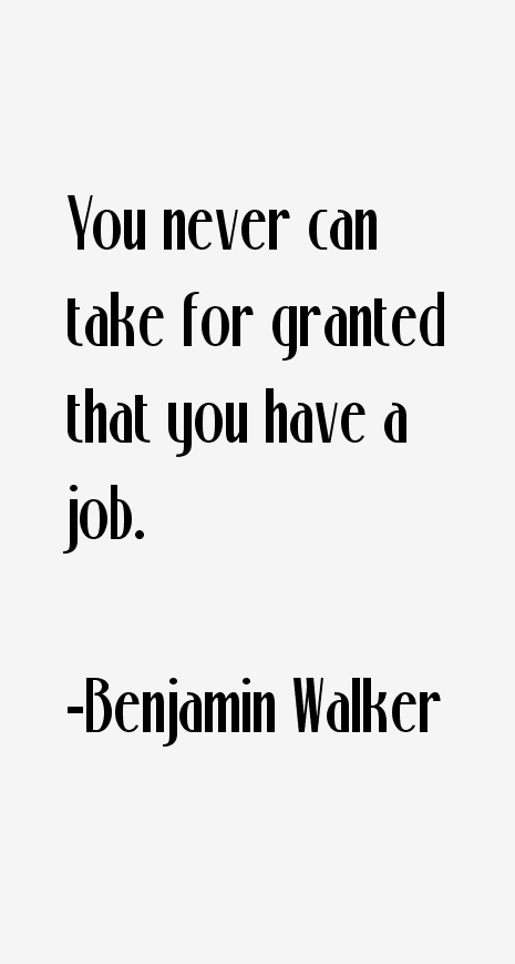 Benjamin Walker Quotes