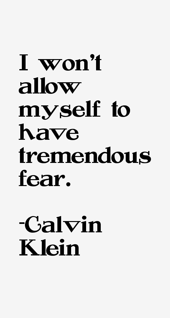 Calvin Klein Quotes