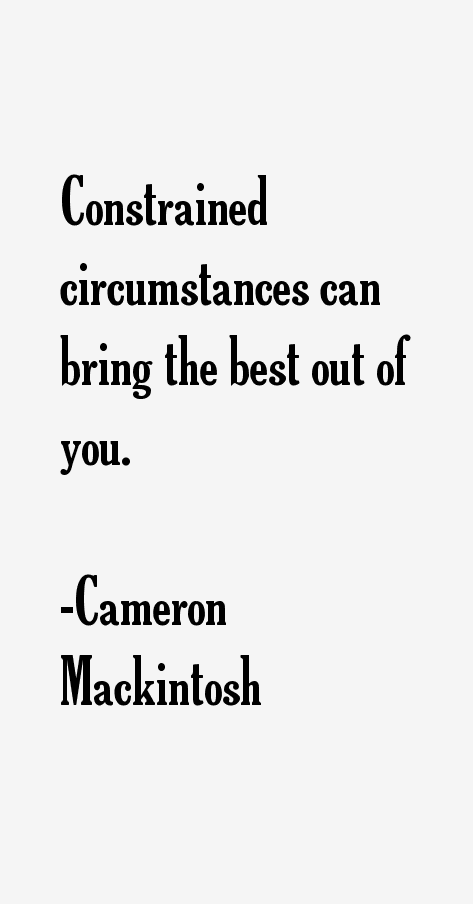 Cameron Mackintosh Quotes