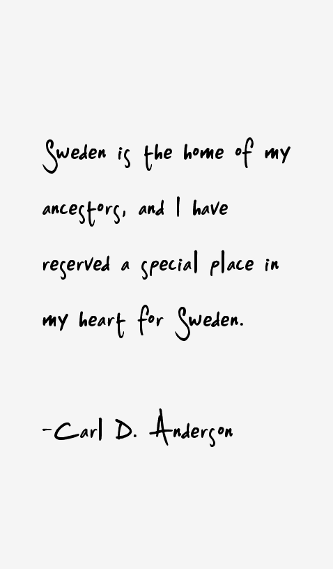Carl D. Anderson Quotes