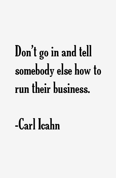 Carl Icahn Quotes