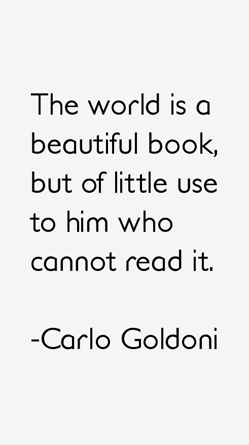 Carlo Goldoni Quotes