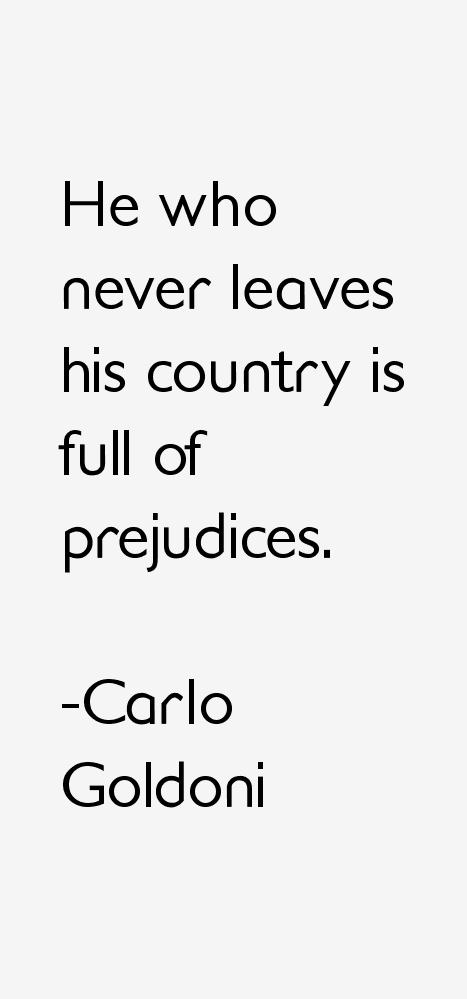 Carlo Goldoni Quotes