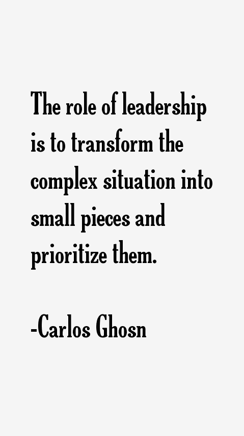Carlos Ghosn Quotes