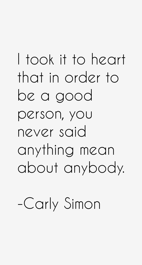 Carly Simon Quotes