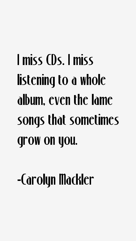 Carolyn Mackler Quotes
