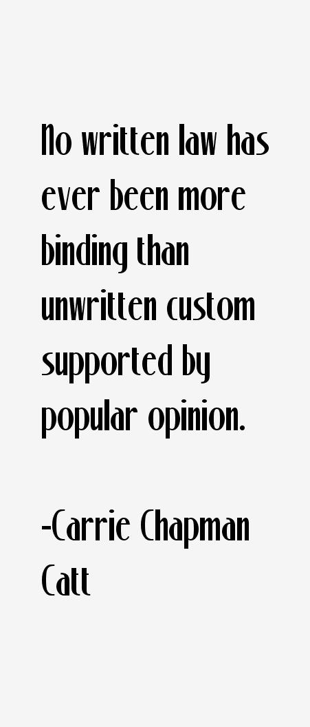 Carrie Chapman Catt Quotes