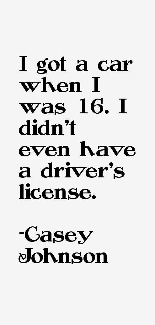 Casey Johnson Quotes