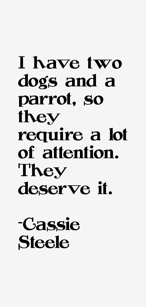 Cassie Steele Quotes