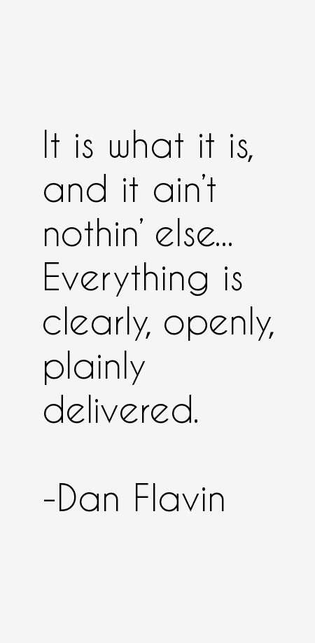 Dan Flavin Quotes