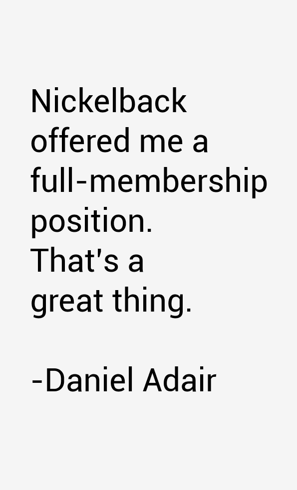 Daniel Adair Quotes