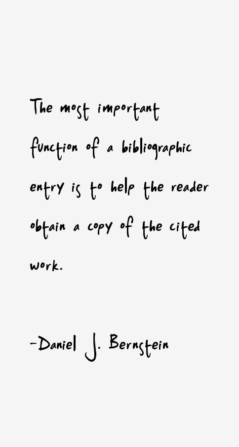 Daniel J. Bernstein Quotes