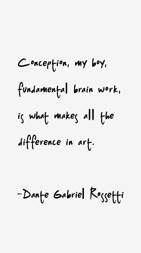 Dante Gabriel Rossetti Quotes