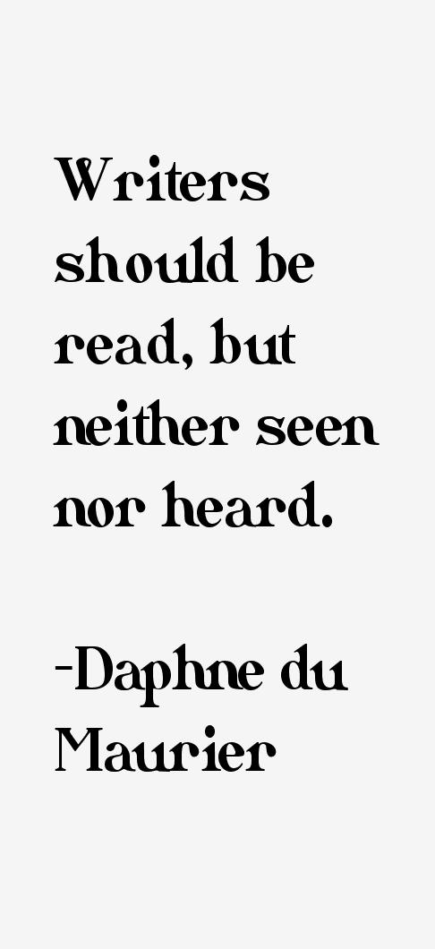 Daphne du Maurier Quotes