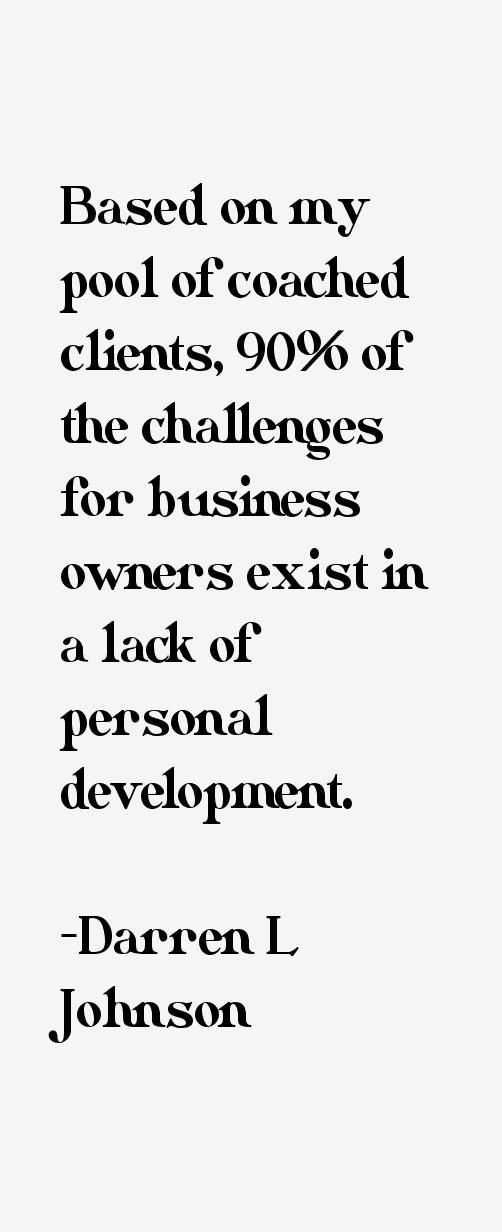 Darren L Johnson Quotes