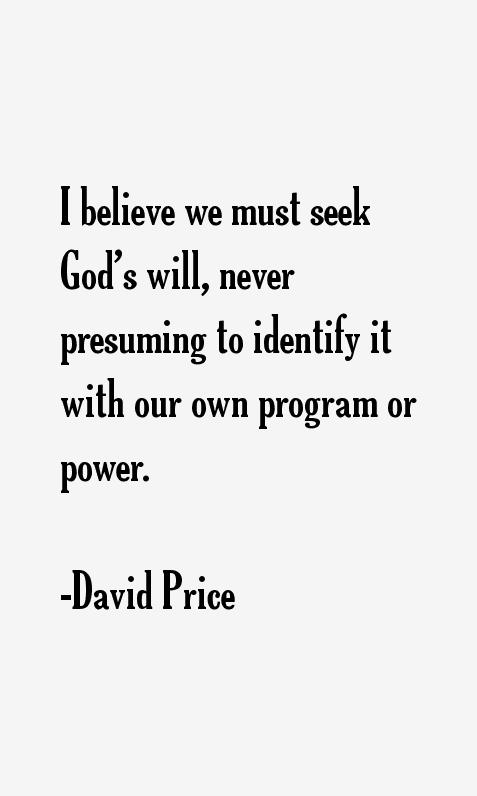 David Price Quotes