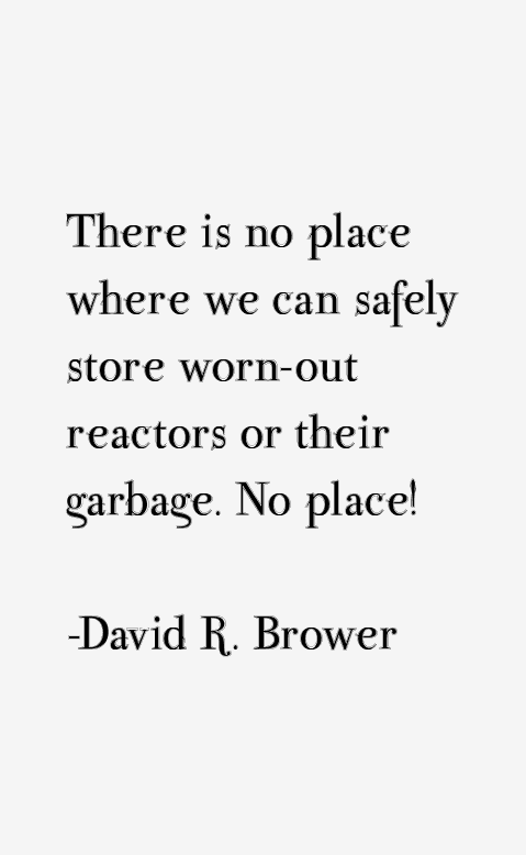 David R. Brower Quotes
